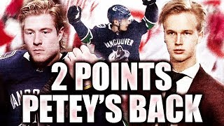 ELIAS PETTERSSON IS BACK AND W/ 2 POINTS / BOESER 2 ASSISTS / HORVAT SCORES—Canucks VS Red Wings NHL