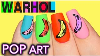 Boyfriend does my voiceover | Andy Warhol Banana POP Art Nails