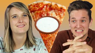 People Try Ranch on Their Pizza For The First Time