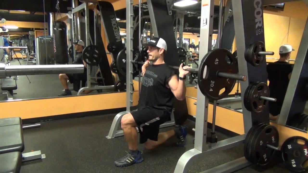 Smith Machine 101 Split Squats Youtube