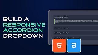 Responsive FAQ accordion dropdown   HTML and CSS Tutorial