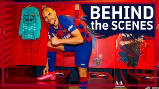 [BEHIND THE SCENES] Martin Braithwaite's first day as new Barça player