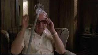 Sopranos-Junior flirts but hates feet!