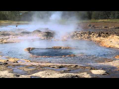 Geyser Eruption at Geysir, Iceland