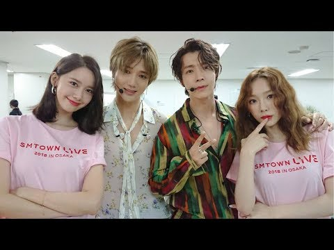 YOONA With SM family So Happy Cute Together @ SM TOWN LIVE  2018 IN  OSAKA