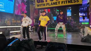 The Lab in Times Square on the Planet Fitness Stage New Years Eve 2019