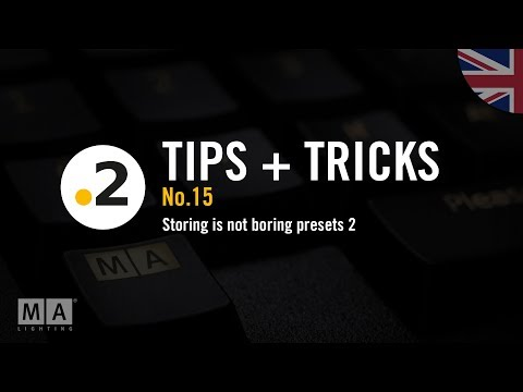 dot2 tips and tricks No15 storing is not boring presets 2