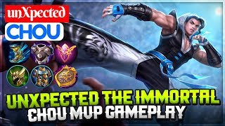 unXpected The Immortal, Chou MVP Gameplay [ Chou unXpected ] unXpected Chou Mobile Legends