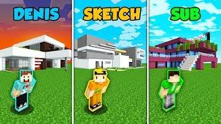 DENIS vs SKETCH vs SUB - REAL LIFE HOUSE in Minecraft! (The Pals)