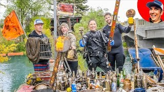 We Found $2365 in Underwater River Treasure! {Scuba Diving}