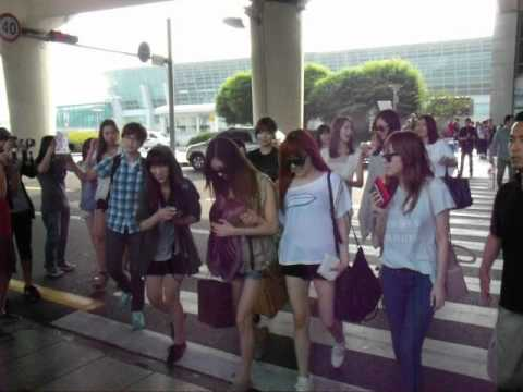 SNSD airport incheon comeback sm town