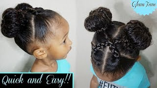 Quick and Easy hairstyle for Kids! | Children's Hairstyles | GlamFam