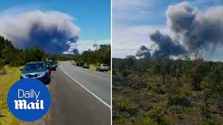 Huge ash plumes billow from Kilauea volcano in Hawaii - Daily Mail