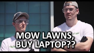 Summer Job Mowing Lawns - Can you Earn a Laptop?