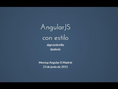 Meetup AngularJS con estilo