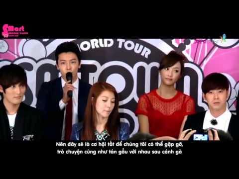 VIETSUB 121123 Super Junior Shinee SNSD Fx DBSK EXO K Boa Shinhwa SM Town Singapore 2012