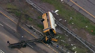 Student and teacher killed, dozens injured in New Jersey school bus crash