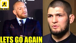 "Conor McGregor reacts to Khabib's ""Disrespectful Comments' about his knock out loss to Poirier,Eye"