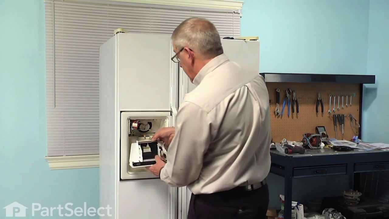 Refrigerator Repair Replacing The Dispenser Control