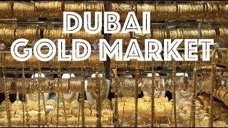 Gold Souk in Dubai Spice Market Walking Tour 4K