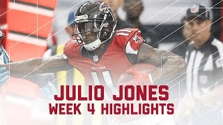 Julio Jones' Career-High 300-Yard Game! | Panthers vs. Falcons | NFL Week 4 Player Highlights