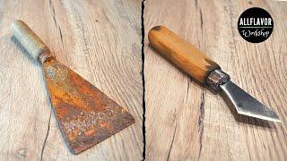 Old Putty Knife into Kiridashi | Hand Tool Transformation