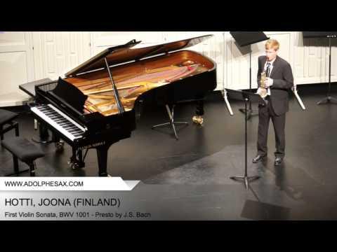 Dinant 2014 - Hotti, Joona - First Violin Sonata, BWV 1001 - Presto by J.S. Bach