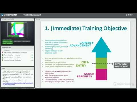 Webinar #1 - Understanding The Technology Skills Training Landscape: Framework & Tool