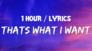 Lil Nas X - THAT'S WHAT I WANT (1 HOUR LOOP) With Lyrics