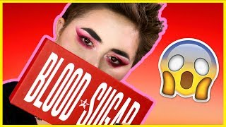 I TRY OUT JEFFREE STAR'S BLOOD SUGAR PALETTE!!