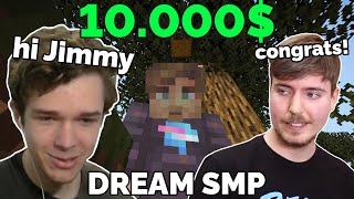 Eret talks to MrBeast after winning 10000$ on Dream SMP