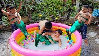 Trò Chơi Bé Vui Phao Bơi Tiên Cá ❤ ChiChi ToysReview TV ❤ Đồ Chơi Trẻ Em Baby Kids Fun Song