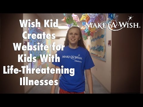 Wish Kid Creates Website for Kids With Life-Threatening Illnesses