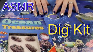 ASMR OCEAN  TREASURES DIG KIT | 1 Hour of Sounds & Whispers | JoWi ASMR