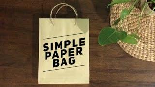 Simple Paper Bag Tutorial