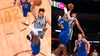 Derrick White destroys Paul Millsap with powerful epic dunk | Nuggets vs Spurs, Game 1