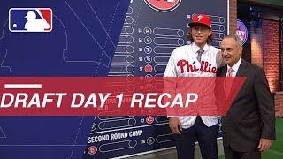 Wrapping up a memorable Day 1 of the 2018 MLB Draft