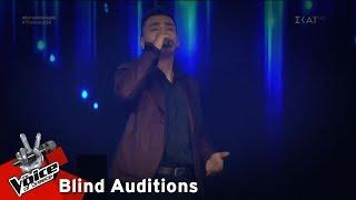 Ζάχος Καραμπάσης - Άκου   8o Blind Audition   The Voice of Greece