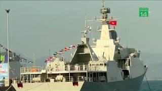 VTC14 | Thượng cờ 2 tàu hộ vệ tên lửa Quang Trung và Trần Hưng Đạo