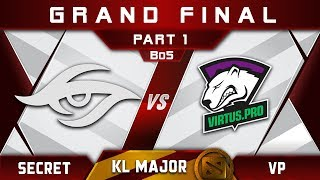 Secret vs VP Grand Final Kuala Lumpur Major KL Major Highlights Dota 2 - [Part 1]