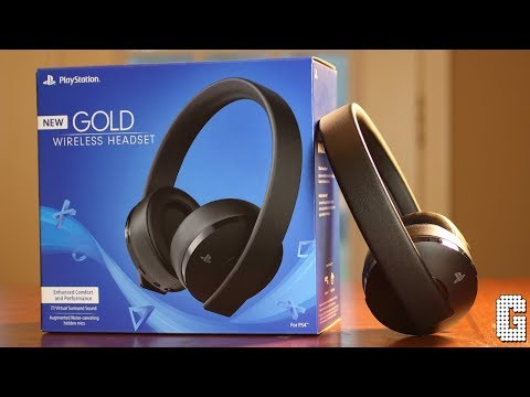 video Sony PlayStation 4 Gold Wireless Headset