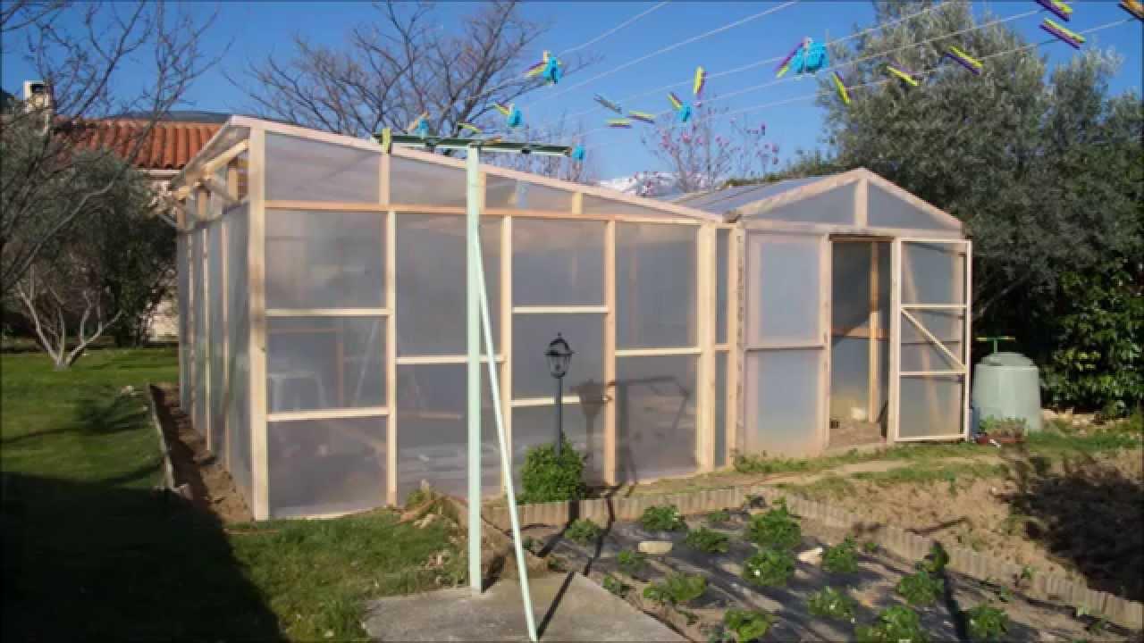 Construire une serre en bois de 24m youtube - Accessoires serre de jardin ...