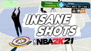 I've been making INSANE SHOTS on NEXT GEN NBA 2K21...