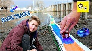 GIANT MAGIC TRACKS BRIDGE ACROSS THE RIVER - DIY