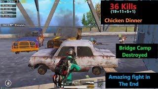 [Hindi] PUBG Mobile   Bridge Camp Fight & Amazing Chicken Dinner