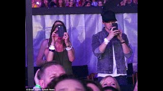 Joe Alwyn (family Alwyn and Swift) while cheering Taylor Swift on the opening night of the Rep Tour