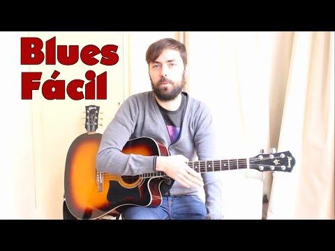 Como tocar un blues fácil en guitarra acústica