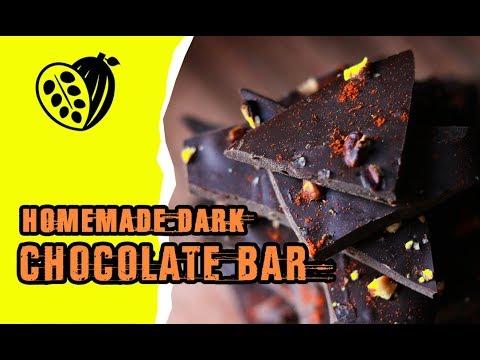 Homemade Dark Chocolate Bar Recipe - Chocolak