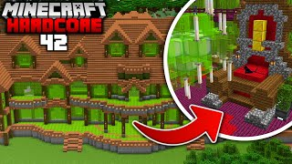 I Built a MANSION out of MELONS in Minecraft Hardcore... Part Two (#42)