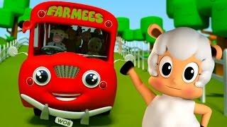 the Wheels on the bus | Nursery Rhymes | Kids songs by Farmees